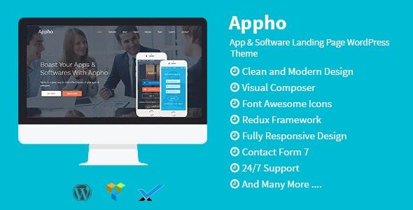 Appho - App & Software Landing Page WordPress Theme - Technology WordPress