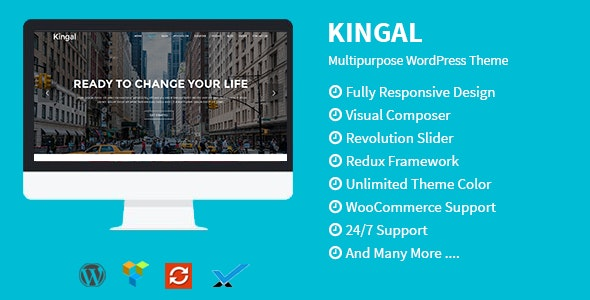 Kingal - MultiPurpose WordPress Theme - Creative WordPress