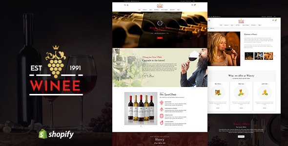 Winee - Wine, Winery Shopify Theme - Shopify eCommerce