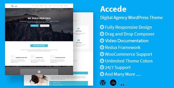 Accede - Digital Agency WordPress Theme - Technology WordPress