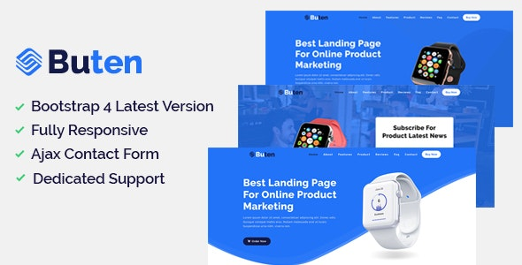 Buten - Product Landing Page - Marketing Corporate