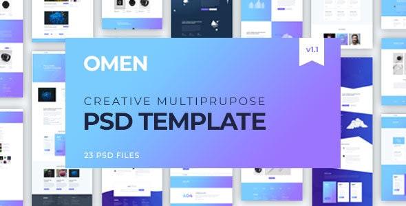 Omen | Creative Multi-Purpose PSD Template - Creative Photoshop