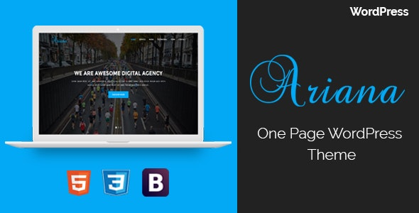 Ariana - Digital Agency One Page WordPress Theme - Technology WordPress