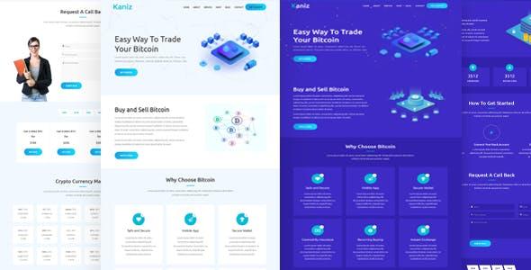 Kaniz - Bitcoin & Cryptocurrency HTML Template
