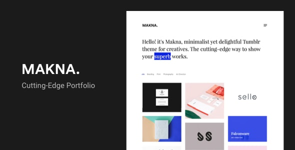 Makna | Minimalist and Delightful Portfolio Tumblr Theme - Portfolio Tumblr