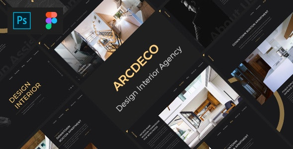 Arcdeco - Interior Design, Architecture & Decor PSD Template - Creative PSD Templates