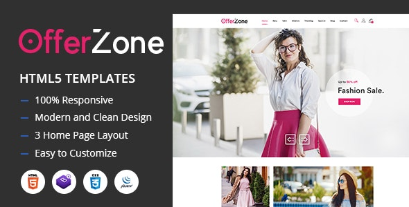 OfferZone - Fashion HTML Templates - Fashion Retail