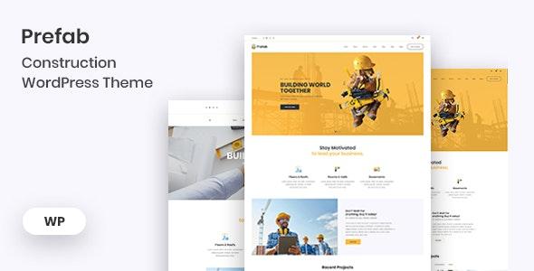 Prefab - Construction WordPress Theme - Business Corporate