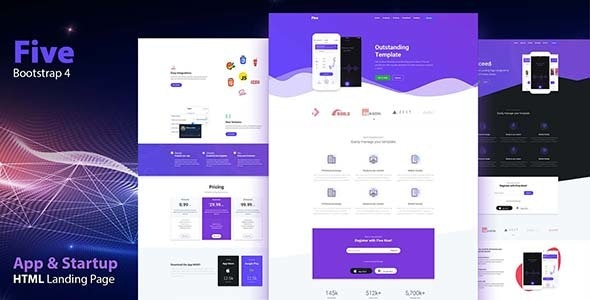 FIVE - HTML App Landing Page - Apps Technology