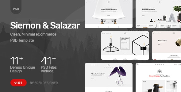 Siemon & Salazar - Clean, Minimal eCommerce PSD Template - Shopping Retail