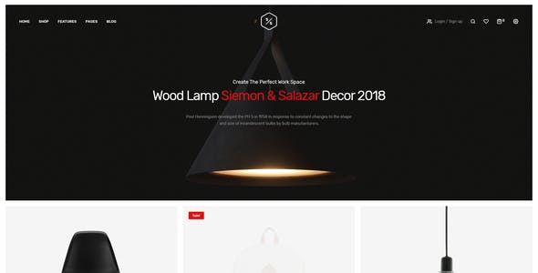 Siemon & Salazar - Clean, Minimal eCommerce PSD Template