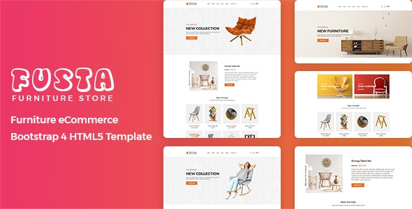 Fusta - Furniture eCommerce Bootstrap 4 Template - Shopping Retail