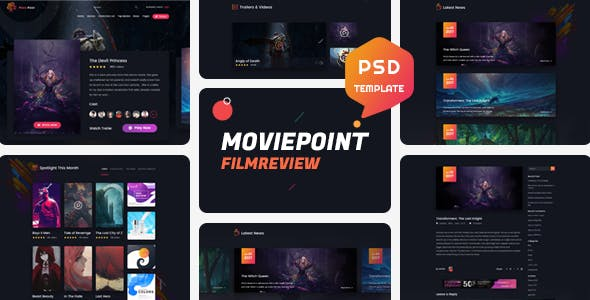 Movie Point - Psd Template