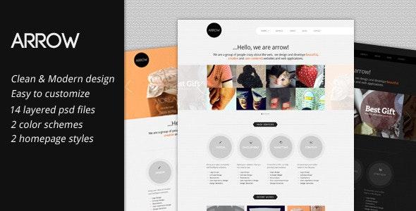 Arrow: Business Portfolio PSD Template - Portfolio Creative