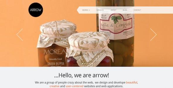 Arrow: Business Portfolio PSD Template