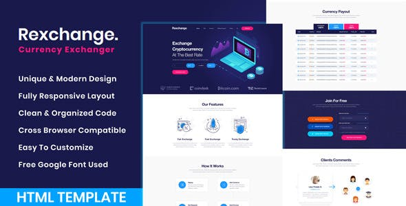 Cryptocurrency Exchanger Templates From
