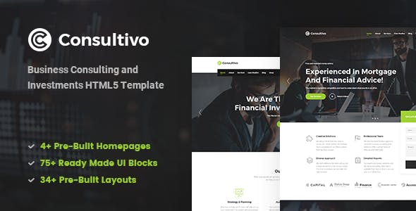 Consultivo - Business Consulting and Investments HTML5 Template