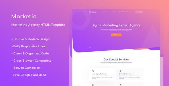Marketia - Marketing Agency Business HTML Template - Marketing Corporate