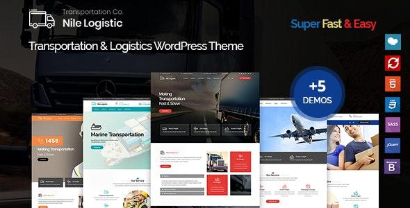 Nile - Transportation and Logistics WordPress Theme - Business Corporate