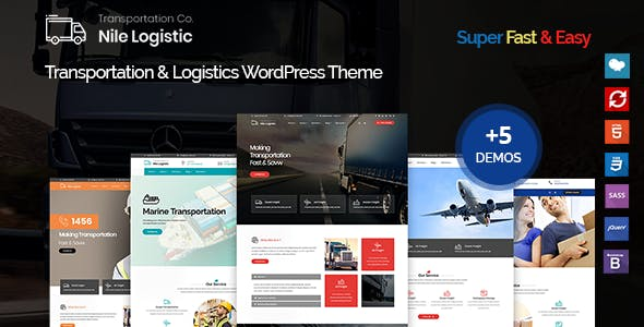 Nile - Transportation and Logistics WordPress Theme