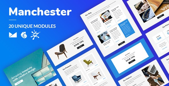 Manchester Email-Template + Online Builder - Catalogs Email Templates