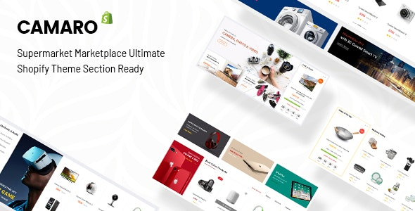Camaro v2.0 – Gadgets & Digital Fashion Super Market Minimalist Shopify Section Theme