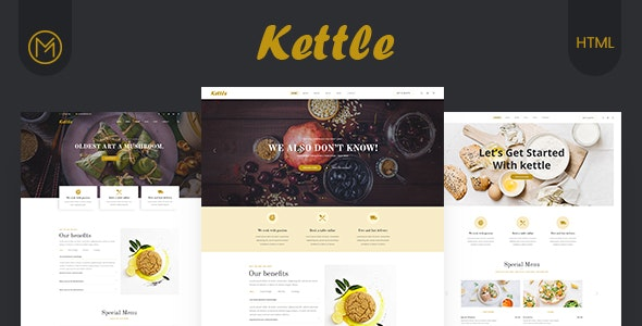 Kettle - Restaurant & Food HTML5 Template by Mugli | ThemeForest