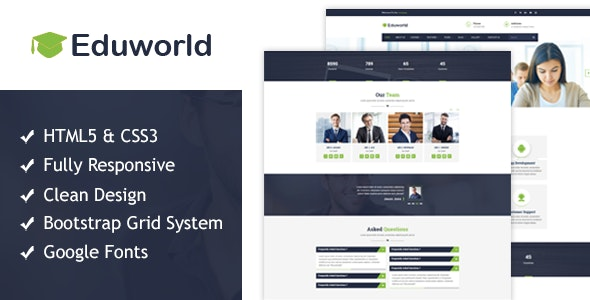 Eduworld - Education HTML Responsive Template - Business Corporate