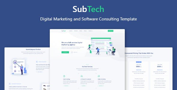 SubTech - Digital Marketing and Software Consulting Template