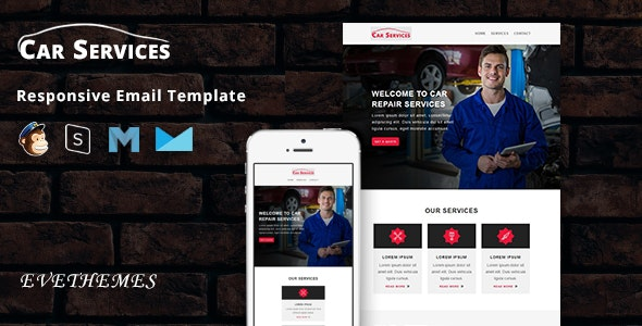 Car Services - Responsive Email Template - Newsletters Email Templates