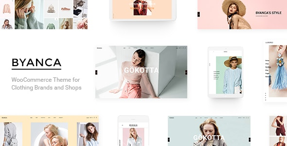 Byanca - Modern WooCommerce Theme for Clothing Brands and Shops - WooCommerce eCommerce