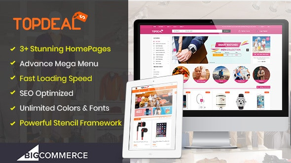 TopDeal - The Super Fast Multipurpose Stencil BigCommerce Theme - BigCommerce eCommerce
