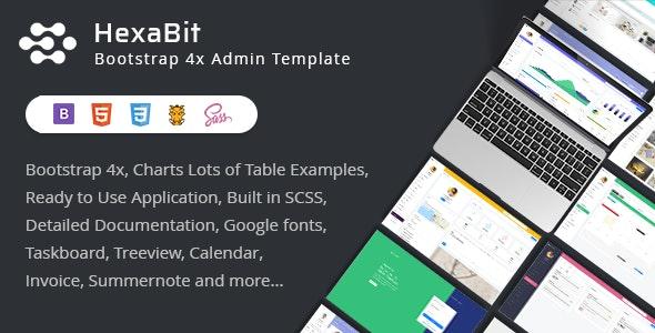 HexaBit - Responsive Bootstrap Admin Template & UI KIT - Admin Templates Site Templates
