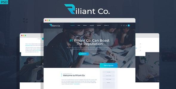 Riliant - Corporate agency PSD Template - Corporate Photoshop