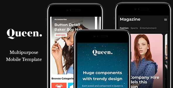 Queen - Multiconcept HTML Mobile App Template by WM_team