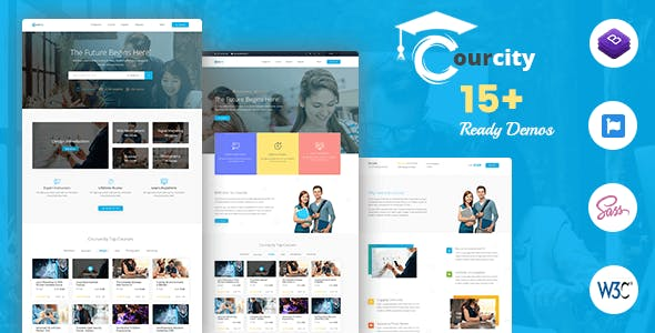 Courcity - Online Course HTML Template For Education