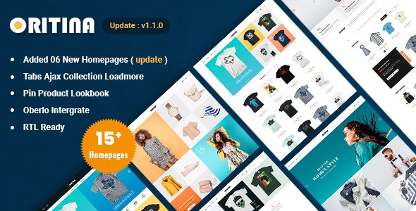 Oritina - Fashion, T Shirt & Accessories Shopify Theme - Fashion Shopify