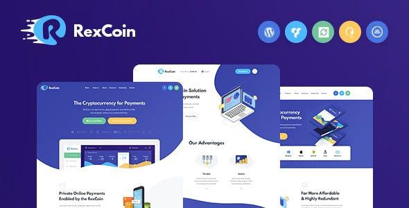 RexCoin | A Multi-Purpose Cryptocurrency & Coin ICO WordPress Theme