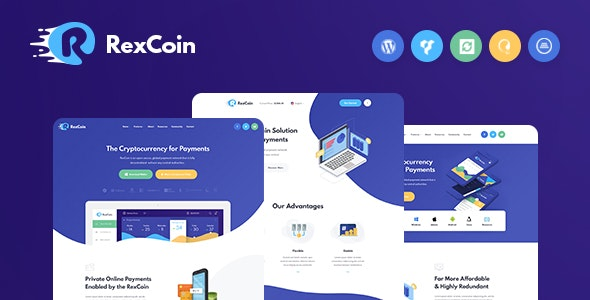 RexCoin | A Multi-Purpose Cryptocurrency & Coin ICO WordPress Theme - Technology WordPress
