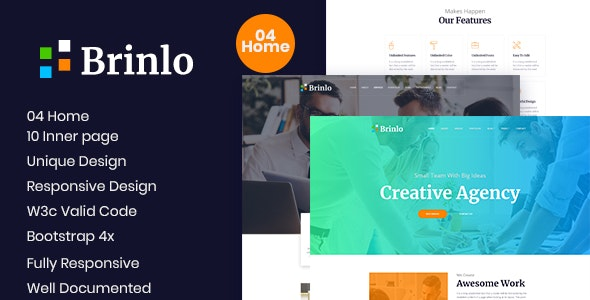 Brinlo- Creative Agency HTML Template - Creative Site Templates