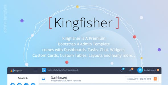 Kingfisher - Responsive Bootstrap 4 Admin Template