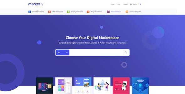 Marketly - Digital Marketplace PSD Template
