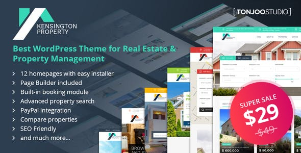 Kensington - Real Estate and Property Management WordPress Theme - Real Estate WordPress