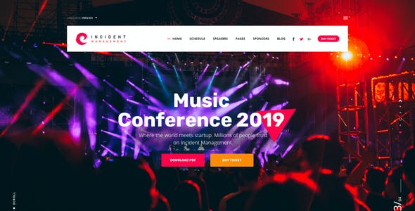 Incident - Event, Meeting and Conference PSD Template