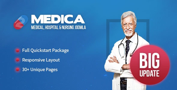 Medica - Clean, Responsive, Medical Joomla Theme - Health & Beauty Retail
