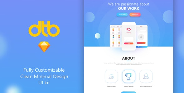 DTB-Corporate Multipurpose Landing Page - Sketch Templates