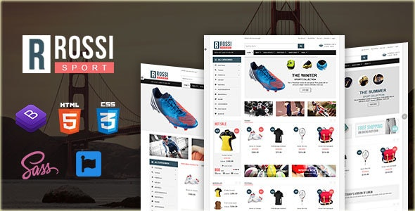 Rossi – Sports Store HTML Template - Shopping Retail