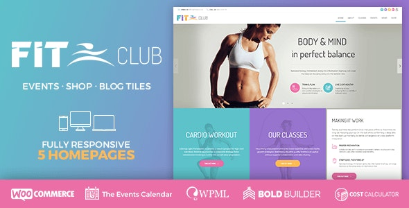 Fitness Club - Health & Gym - Health & Beauty Retail
