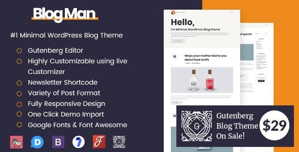 Blogman - Personal Blog WordPress Theme - Personal Blog / Magazine