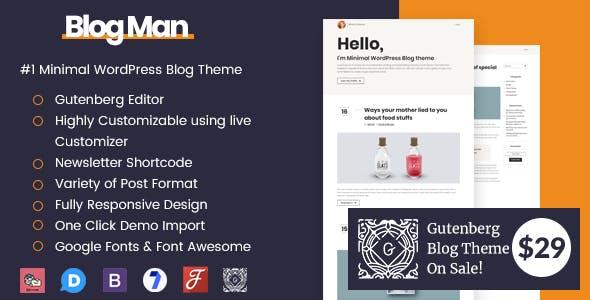 Blogman - Personal Blog WordPress Theme